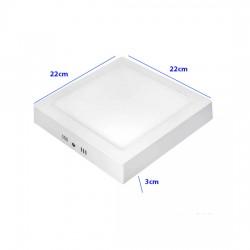 Painel Plafon 18w Luminária Led Quadrado Sobrepor 6500k Fria